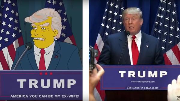 La 'profecía' de Los Simpsons y la victoria de Trump - Sputnik Mundo