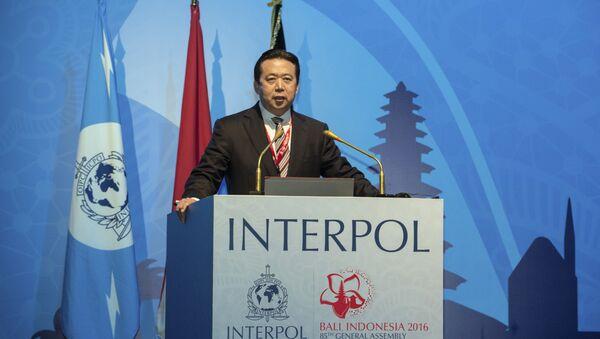 Meng Hongwei, presidente de la Interpol (archivo) - Sputnik Mundo
