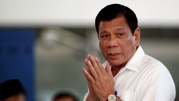 Rodrigo Duterte, el presidente de Filipinas - Sputnik Mundo