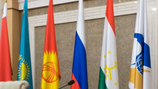 Las banderas de los países miembros de la Comunidad Económica Euroasiática - Sputnik Mundo