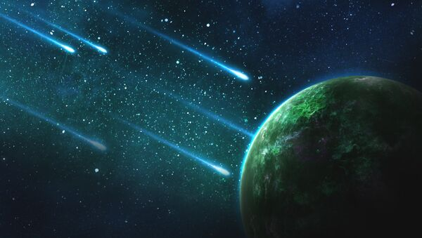 Meteoritos (ilustración) - Sputnik Mundo
