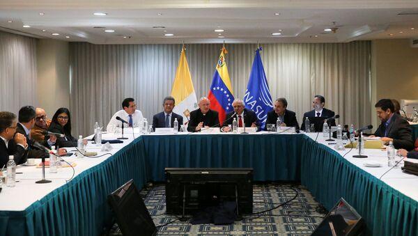La segunda reunión de la mesa de diálogos entre el Gobierno de Venezuela y la oposición - Sputnik Mundo