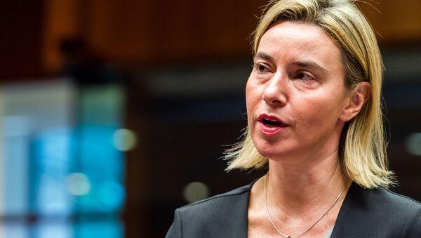 Federica Mogherini, jefa de la diplomacia europea - Sputnik Mundo