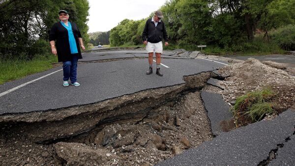 Grandes grietas, causadas por el terremoto de Kaikoura - Sputnik Mundo