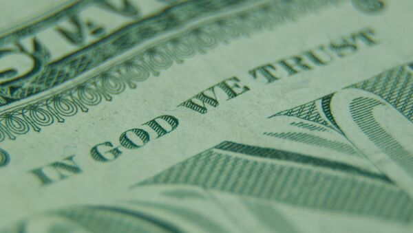 Un billete de dólar estadounidense - Sputnik Mundo