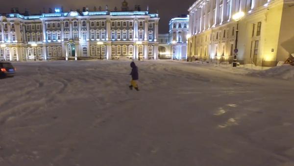 Snowboard frente al Hermitage - Sputnik Mundo