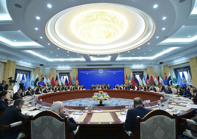 La reunión de los jefes de Gobiernos de los países miembros de la OCS (archivo)
