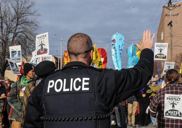 Una protesta en Bismarck contra el oleoducto de Dakota, EEUU (archivo)