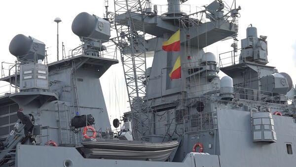 La fragata Almirante Grigorovich en el Mediterráneo (archivo) - Sputnik Mundo