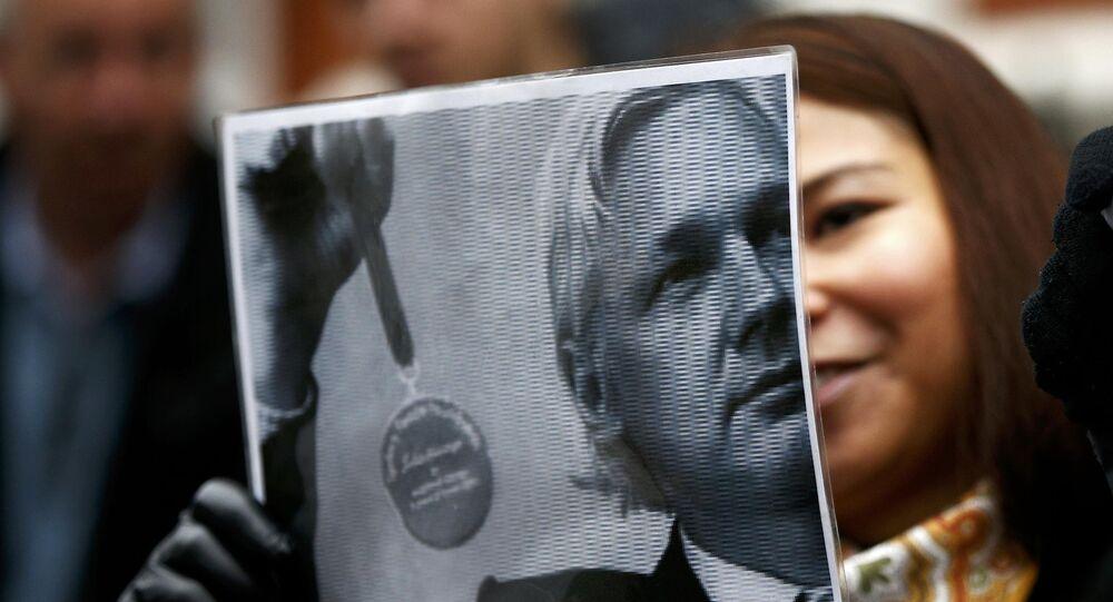 Los partidarios de Julian Assange