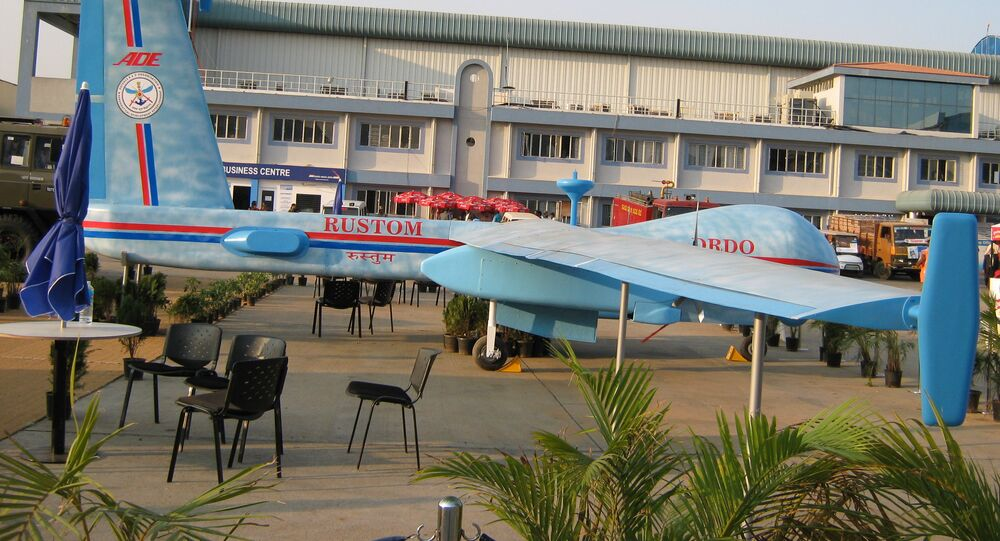 El dron indio de combate Rustom