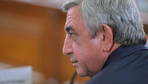 Serzh Sargsián, presidente armenio (archivo) - Sputnik Mundo