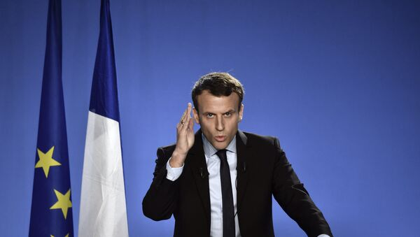 Emmanuel Macron, candidato presidencial de Francia - Sputnik Mundo