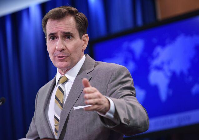 John Kirby, portavoz del Departamento de Estado