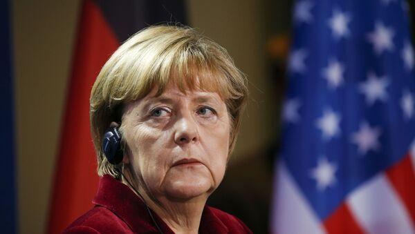 German Chancellor Angela Merkel during a joint news conference with U.S. President Barack Obama in Berlin, Germany - Sputnik Mundo
