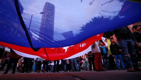 Marcha a favor de paz con FARC, Colombia - Sputnik Mundo
