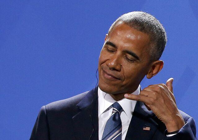El presidente saliente de EEUU, Barack Obama, durante su visita a Alemania