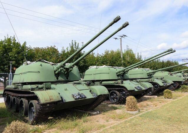 Cañones antiaéreos autopropulsados ZSU-57-2