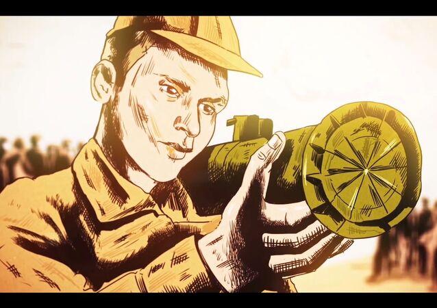 Rememoran el heroísmo de un soldado ruso caído en Siria a través de dibujos animados