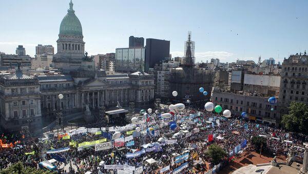Protestas sociales en Argentina - Sputnik Mundo