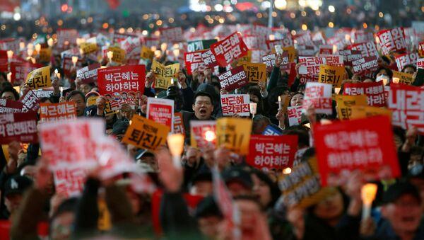 Las protestas en Seul - Sputnik Mundo