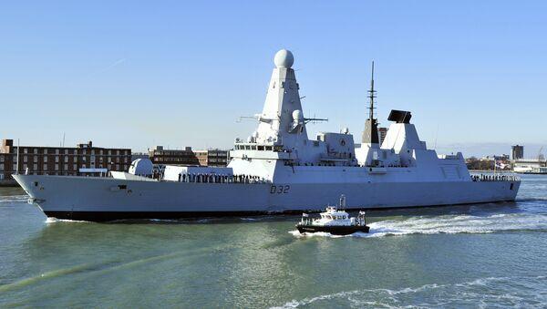 Destructor HMS Daring de la Armada Real británica - Sputnik Mundo