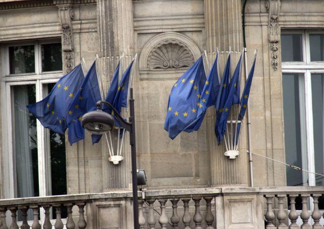 Las banderas de la UE (archivo)