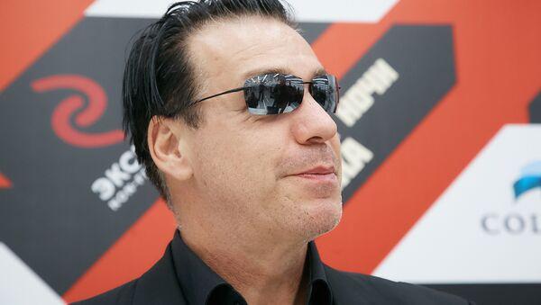 Till Lindemann, vocalista de la famosa banda de metal industrial Rammstein, en Moscú el 18 de noviembre de 2016 - Sputnik Mundo