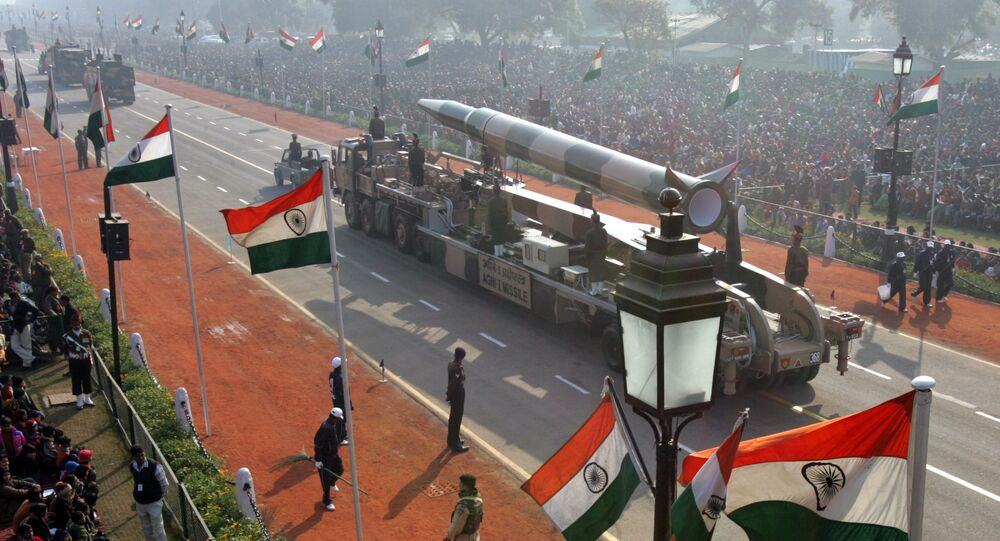 El misil balístico de corto alcance Agni-I (archivo)