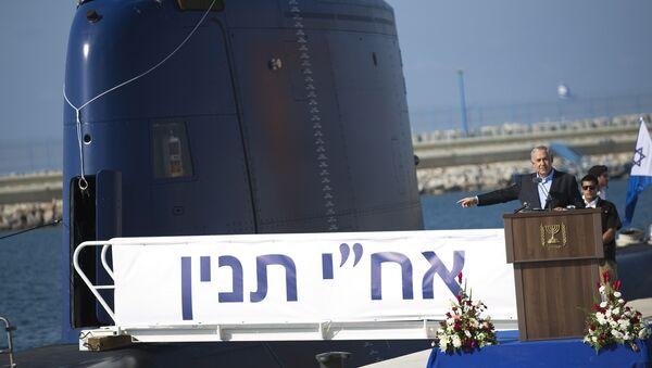 Benjamín Netanyahu acude al acto de entrega del primer submarino Dolphin el 23 de septiembre de 2014 - Sputnik Mundo