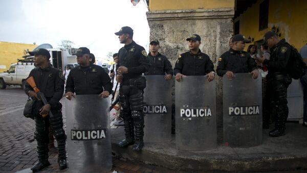 Los policías colombianos (Archivo) - Sputnik Mundo