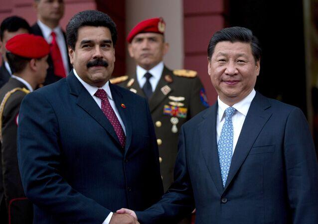 El presidente de Venezuela, Nicolás Maduro, y el presidente de China, Xi Jinping
