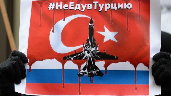 Protestas en Moscú tras el derribo del Su-24 ruso - Sputnik Mundo