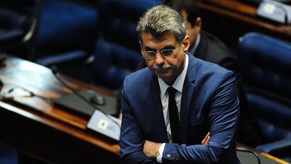 Romero Jucá, jefe del grupo oficialista de Michel Temer en el Congreso Nacional - Sputnik Mundo