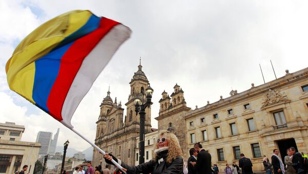 Manifestación por la paz en Bogotá, Colombia - Sputnik Mundo