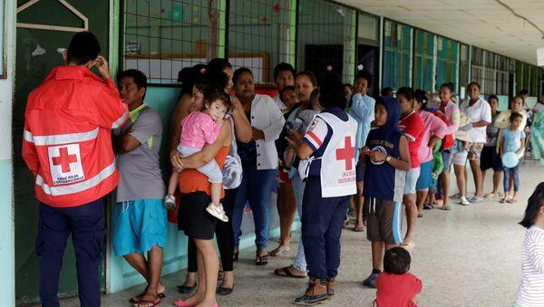 La gente evacuada por el acercamiento del huracán Otto en Costa Rica - Sputnik Mundo