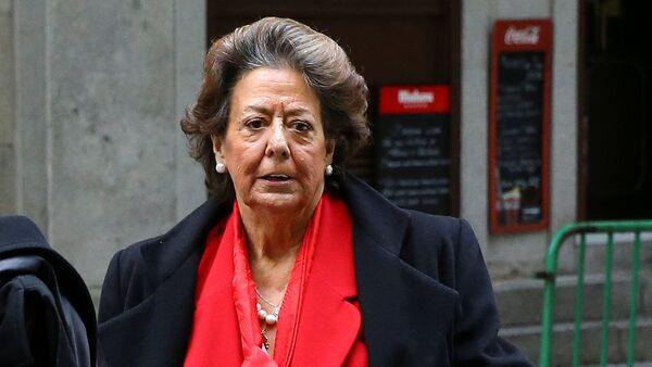 Foto de archivo de la exalcaldesa de Valencia, Rita Barberá, llegando al Tribunal Supremo de Madrid - Sputnik Mundo