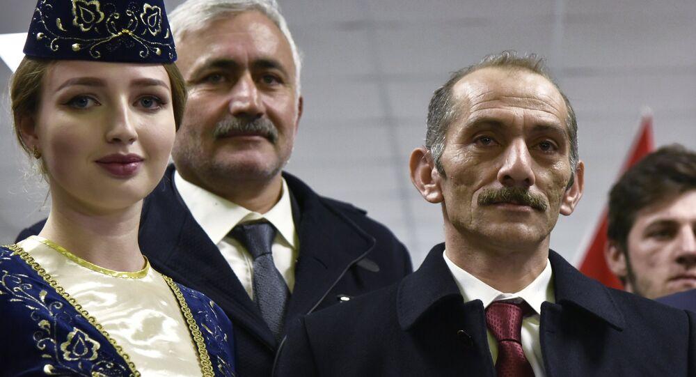 La delegación turca durante una visita a Crimea