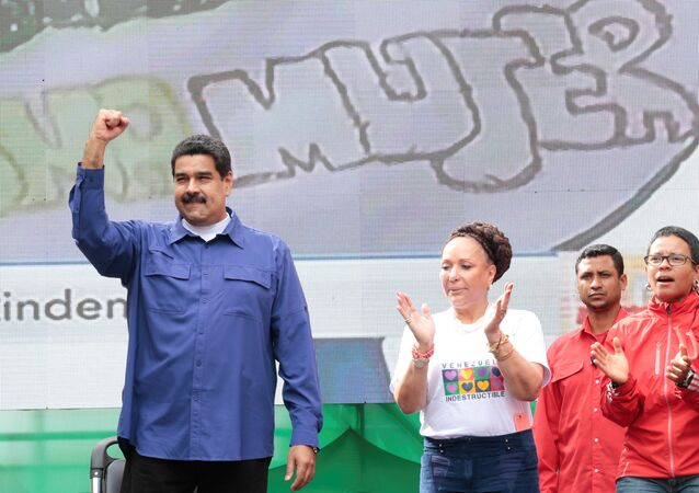 Nicolás Maduro y Piedad Córdoba