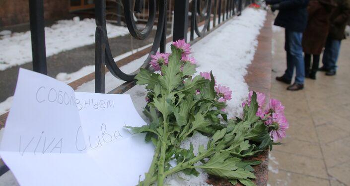 Moscovitas rinden homenaje a Fidel Castro