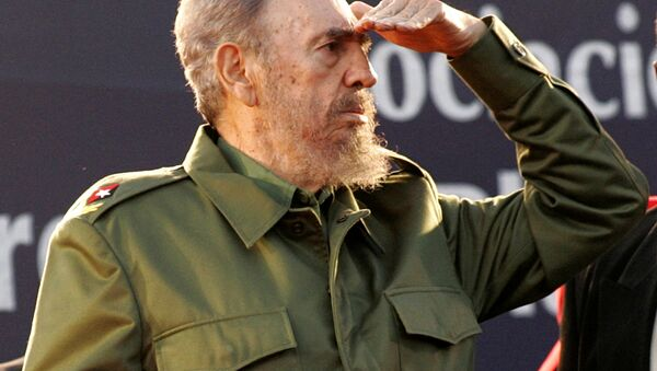 Cuba's President Fidel Castro looks at the crowd during a mass rally in Cordoba, Argentina July 21, 2006. REUTERS/Andres Stapff/File Photo - Sputnik Mundo