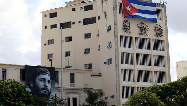 Un retrato de Fidel Castro en Cuba - Sputnik Mundo