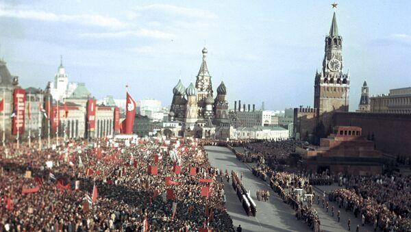 Una manifestación en la Plaza Roja (archivo) - Sputnik Mundo