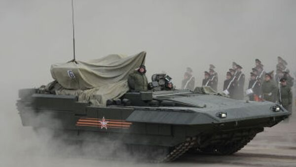 The Armata IFV during training to Parade of the Victory - Sputnik Mundo