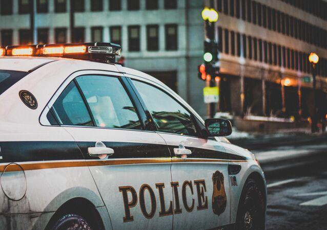 Coche de policía estadounidense (archivo)