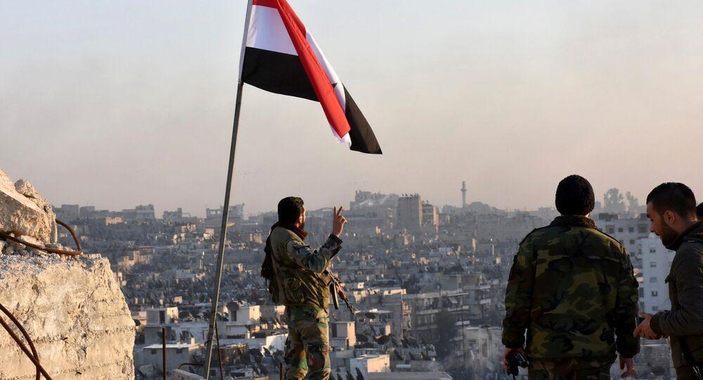 Soldados sirios en Alepo
