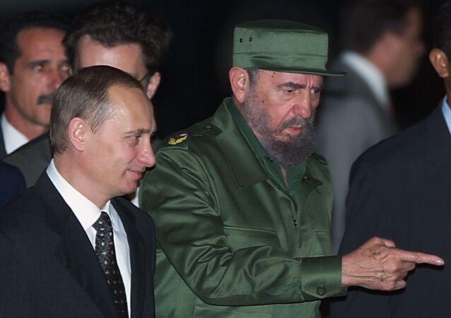 Fidel Castro y Vladímir Putin en la Habana, 2000