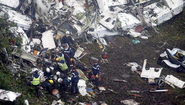 Lugar del siniestro del avión en el que viajaba el equipo brasileño Chapecoense - Sputnik Mundo