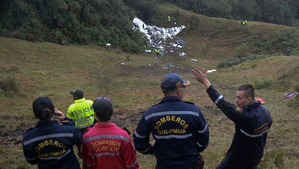 El avión siniestrado en Medellín - Sputnik Mundo