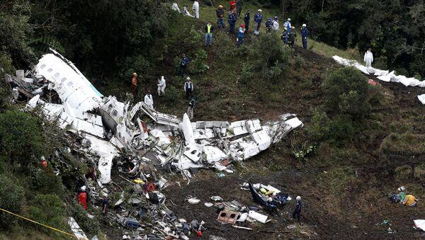 Los restos del avión siniestrado en Colombia - Sputnik Mundo